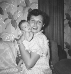 My mom and me, 1954