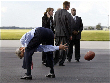 John Kerry demonstrates his foreign policy position if elected president.
