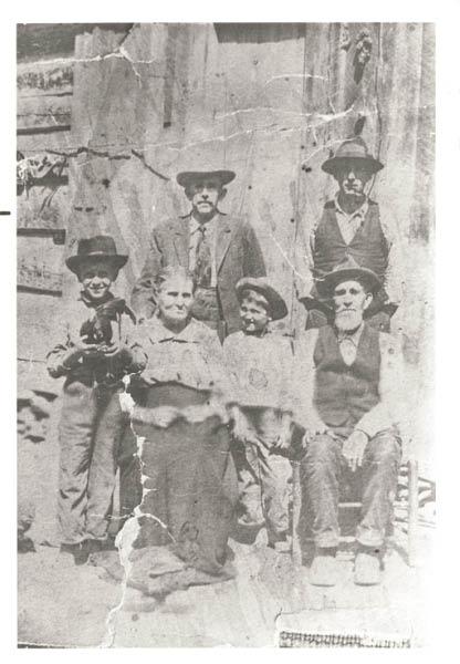 front l/r George, Anna, Norris, Linsey. Back Ulysses, Robert Greenville