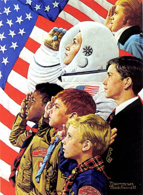 From Concord to Tranquility/Norman Rockwell 1973